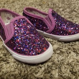 Purple sparklie toddler shoes